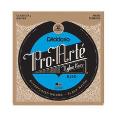 D`ADDARIO EJ50 PRO ARTE BLACK TREBLE HARD TENSION